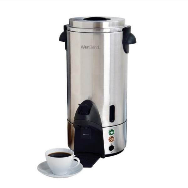 Where to find COFFEE MAKER, 100 CUP STAINLESS in Hamilton